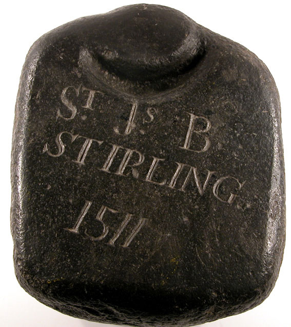 Curling Stone 1511, Image courtesy of the Stirling Smith Art Gallery & Museum