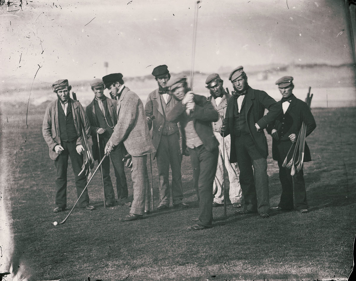 St Andrews professionals including Open Champions Willie Park and Tom Morris, about 1855, credit The Royal and Ancient Golf Club of St Andrews