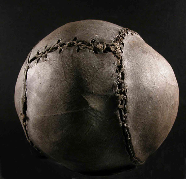 Oldest existing football in the world (dating from around 1540) was discovered in the Royal Palace at Stirling Castle, Courtesy of the Stirling Smith Art Gallery & Museum