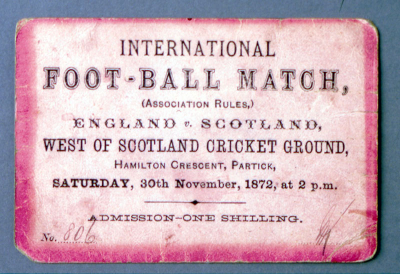 Foot-ball Match, Ebgland v Scotland 1872