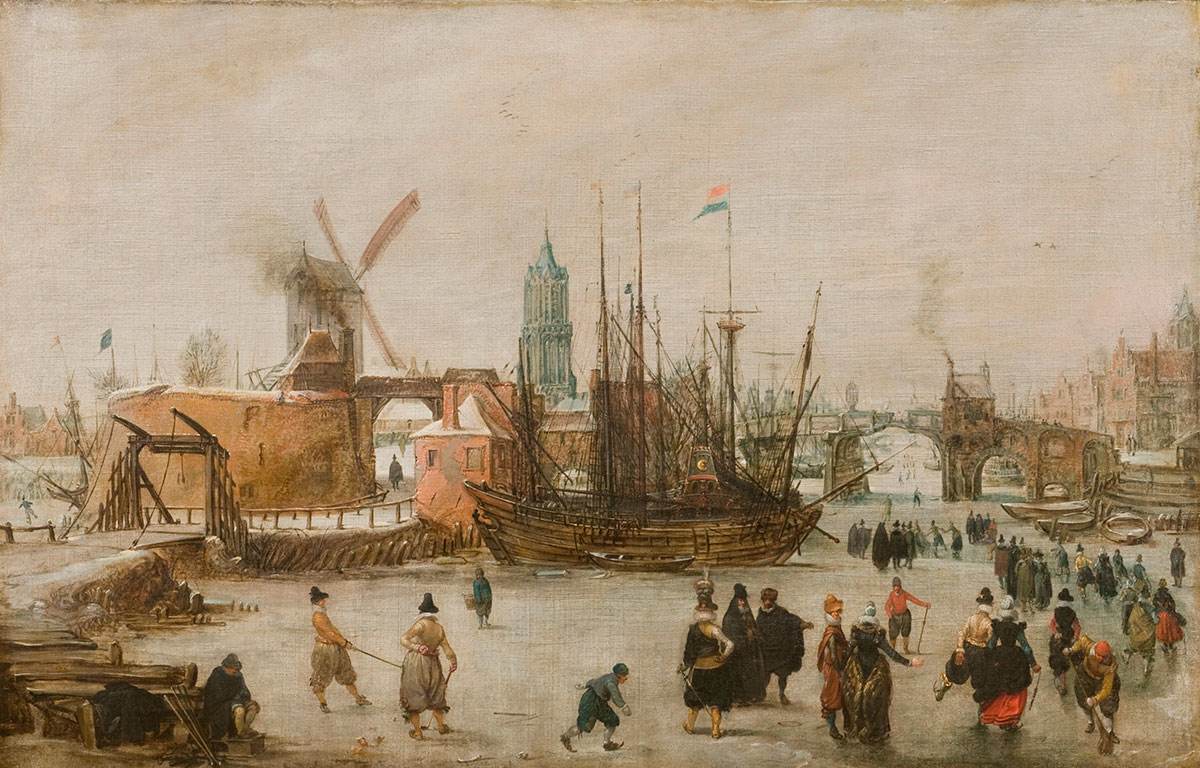 Dutch Colf on Ice, Adam van Breen, about 1610, credit The Royal and Ancient Golf Club of St Andrews
