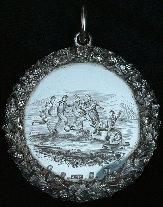 The 1851 Football Medallion; oldest existing football trophy in the world. Image Courtesy of the Argyll and Sutherland Highlanders Regimental Museum