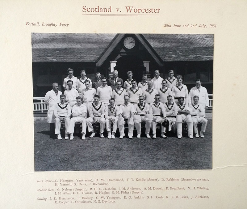 Scotland v Wocester, Forthill, Broughty Ferry, 1951
