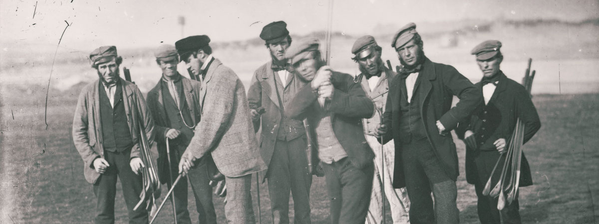 St Andrews professionals including Open Champions Willie Park and Tom Morris, about 1855